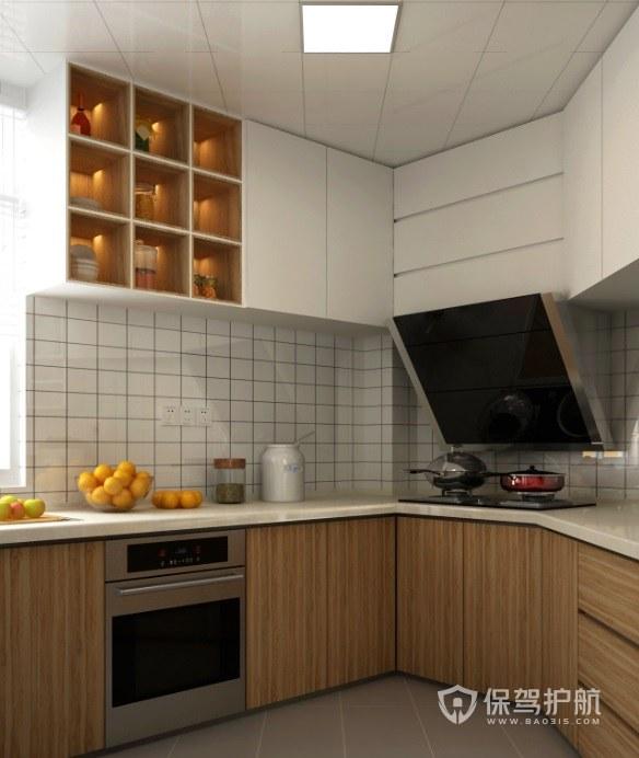 147平不规则厨房橱柜装修效果图