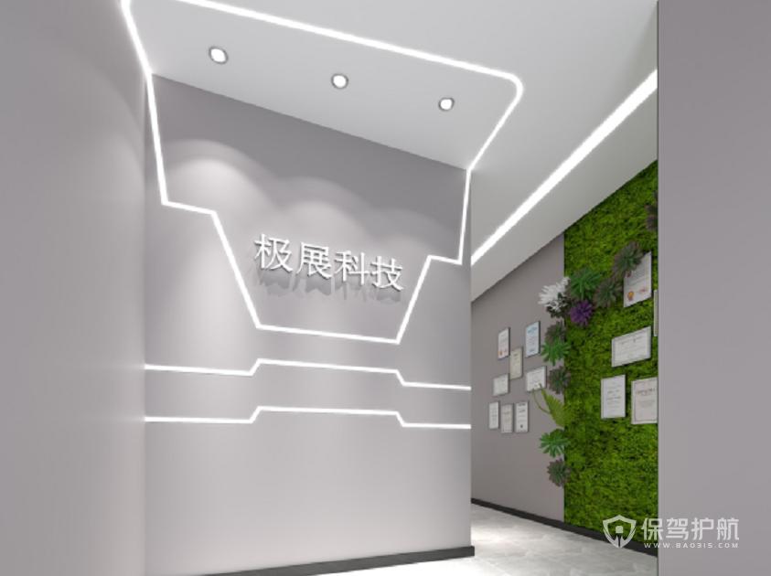 现代时尚风办公门厅装修效果图