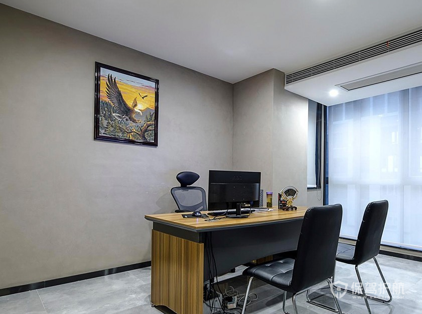 现代简约风领导办公室装修效果图