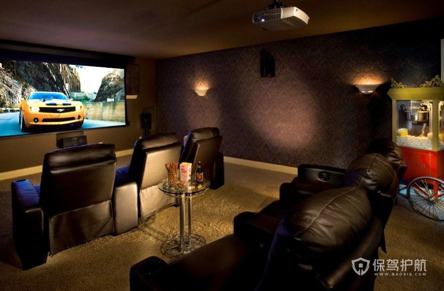 复古风家庭电影院墙面装修效果图