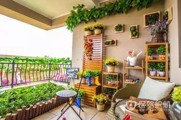 8平阳台小花园如何设计?8平阳台小花园效果图