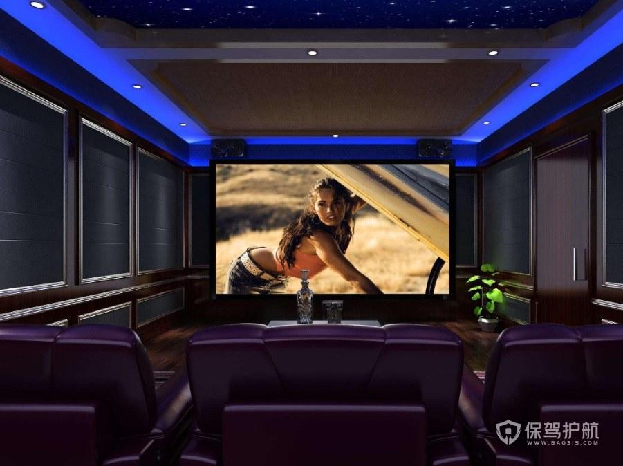 英式家庭电影院灯具装修效果图