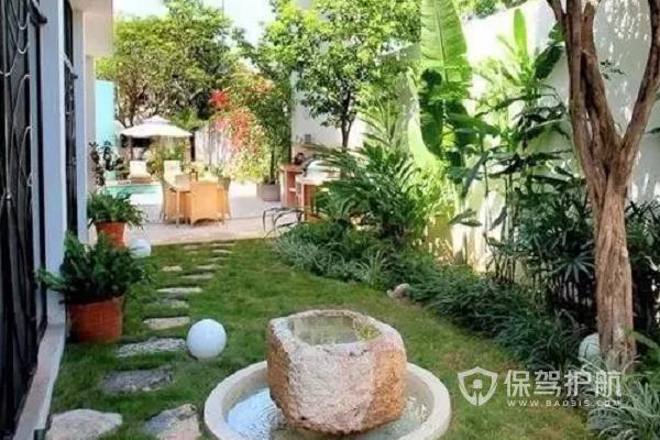 一楼25平小花园如何设计?一楼25平小花园设计图