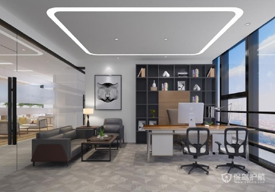 简约新中式领导办公室装修效果图