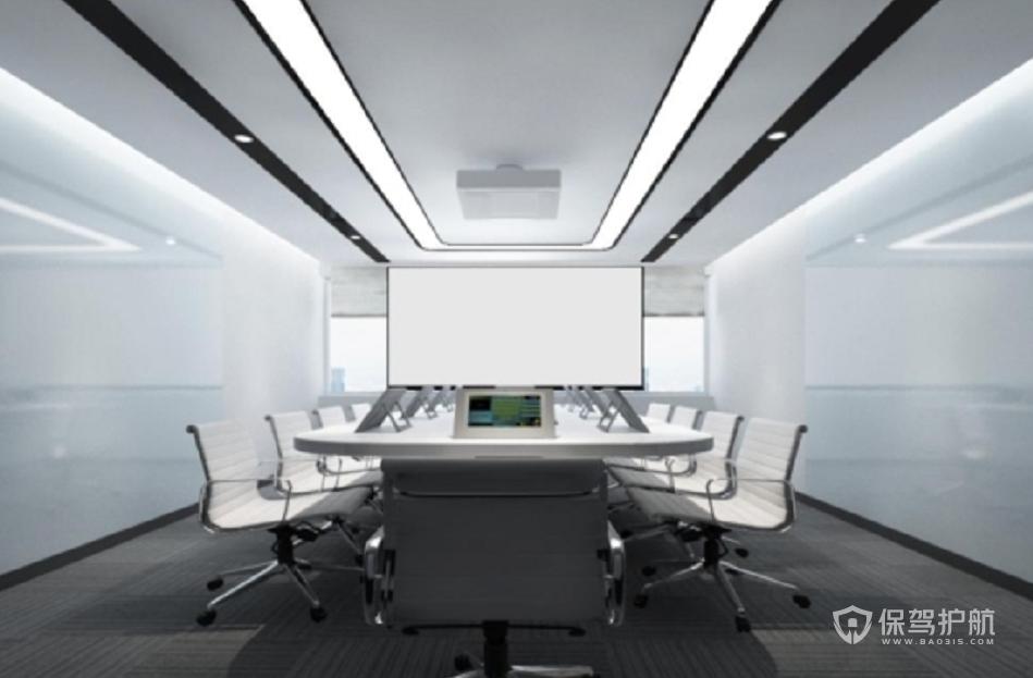 极简风格多媒体会议室装修效果图