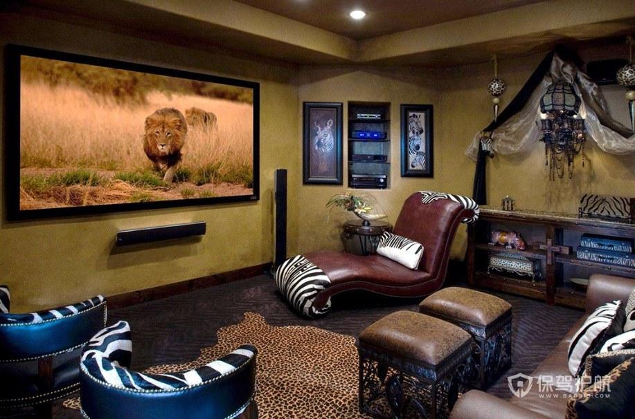 布洛克风格家庭电影院装修效果图