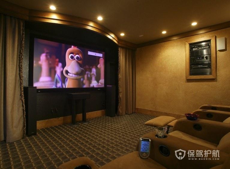 欧式家庭电影院壁纸装修效果图