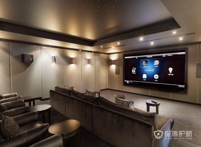 法式简约风家庭电影院墙面装修效果图