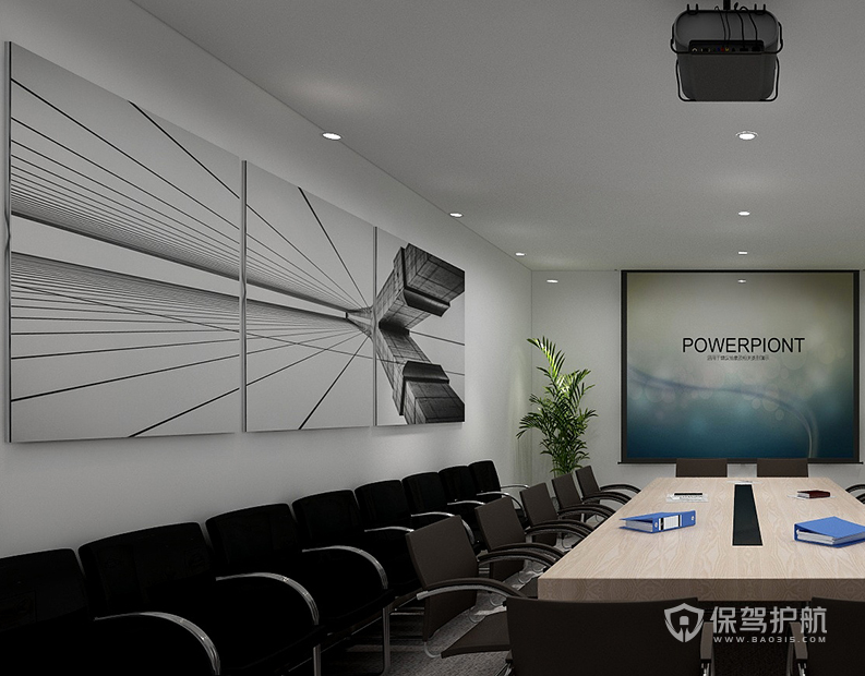 简约风格公司会议室装修效果图
