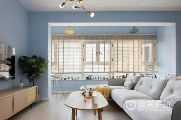 家庭装修配色方案有哪些?米黄配浅蓝色效果图