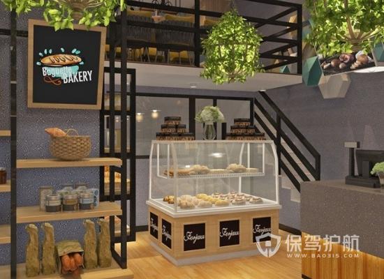 40平法式风格蛋糕店商品柜装修效果图…