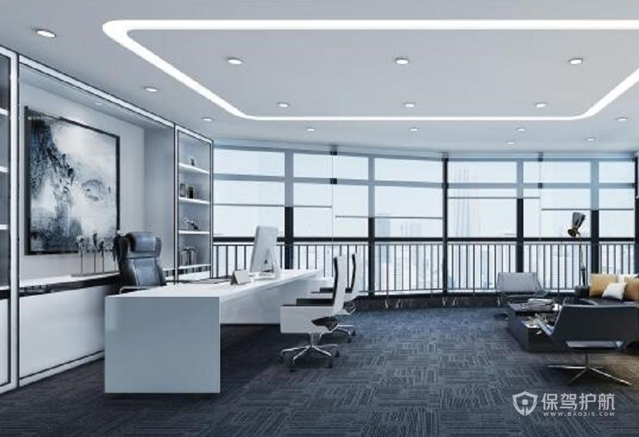 现代极简风领导办公室装修效果图