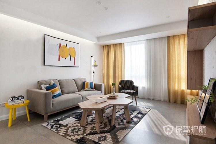 不同装修风格选择什么颜色的墙?米黄客厅配色效果图