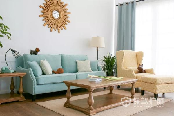 藍色沙發配什么顏色最搭?沙發顏色搭配原則