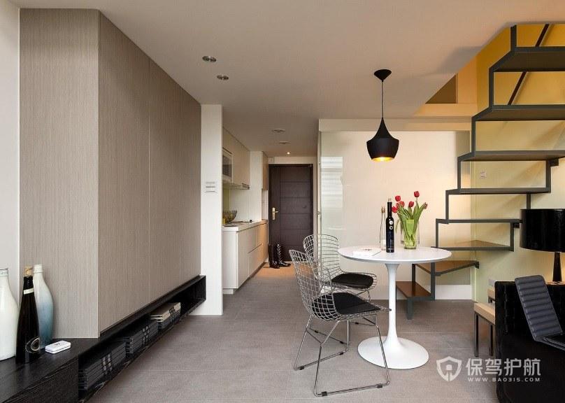 現代風復式樓一字型樓梯裝修效果圖