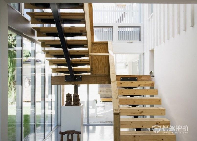 簡約風小戶型復式L型樓梯裝修效果圖