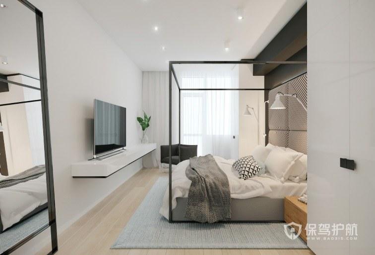 Loft日式簡約風臥室背景墻裝修效果圖
