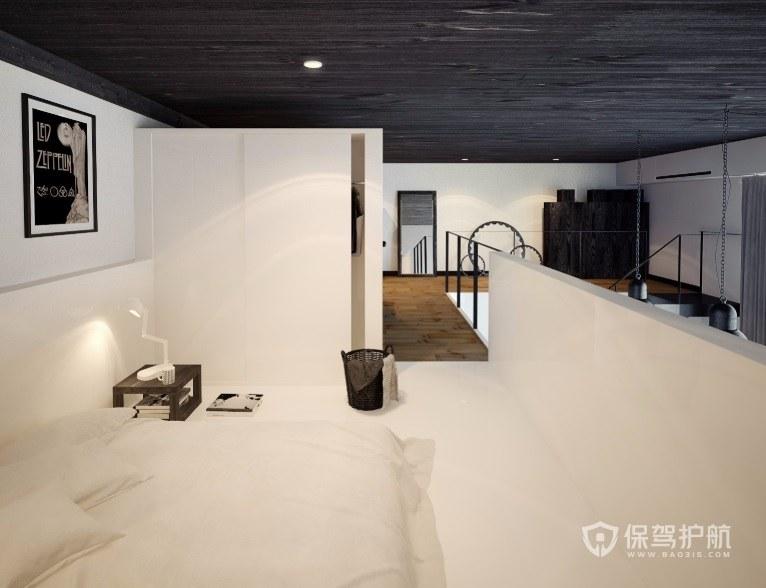 Loft現代極簡風臥室裝修效果圖