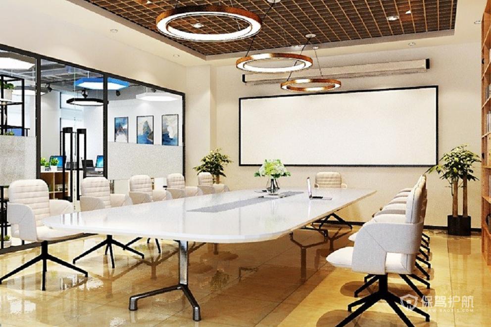原木風格辦公會議室裝修效果圖