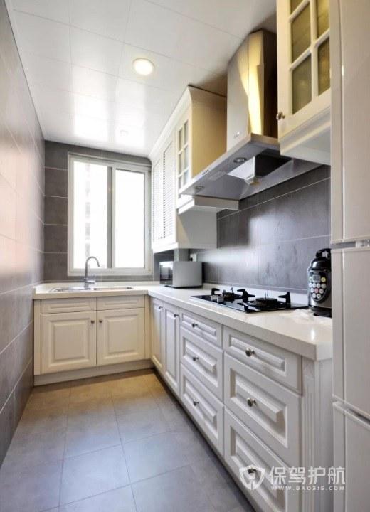 歐式簡約風廚房壁柜門裝修效果圖