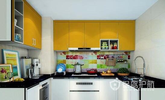 正方形厨房装修效果图