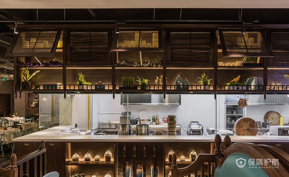 復古美式風格餐館操作室裝修效果圖
