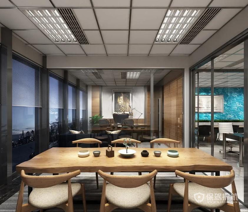 現代日式風領導辦公室裝修效果圖