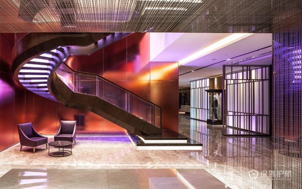 后現代創意酒店樓梯裝修效果圖