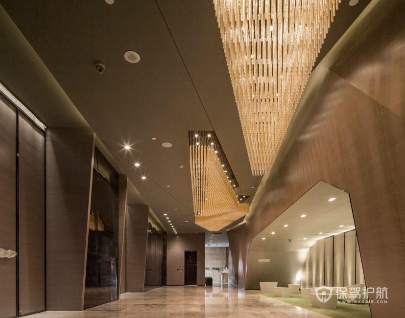 現代輕奢風格酒店大堂裝修效果圖