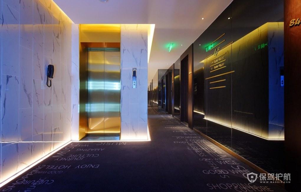 創意風格酒店過道走廊裝修效果圖
