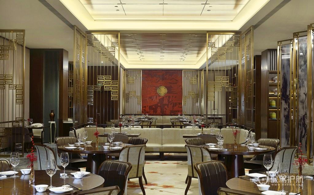 豪華現代風格酒店餐廳裝修效果圖