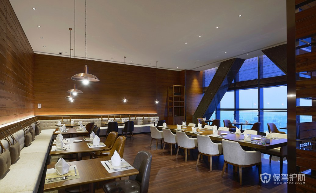 港式風格酒店餐廳裝修效果圖