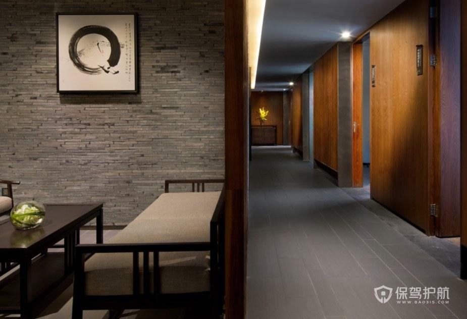 中式溫泉度假酒店茶室裝修效果圖