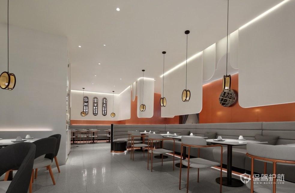 現代簡約風格餐廳布局效果圖
