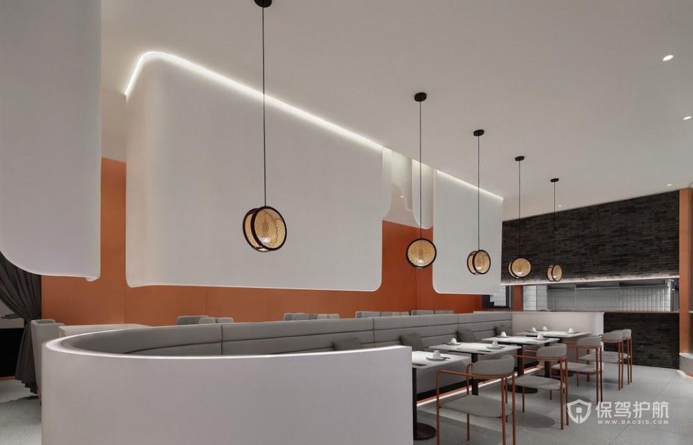 現代簡約風格餐廳隔斷裝修效果圖