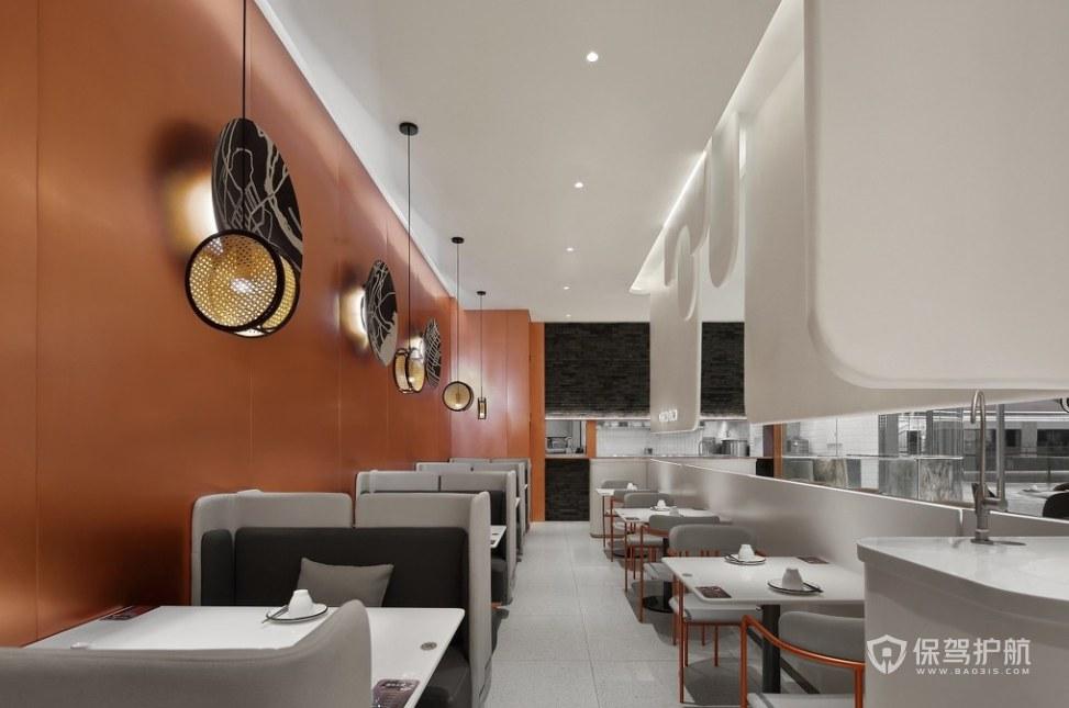 極簡風格餐廳就餐區裝修效果圖
