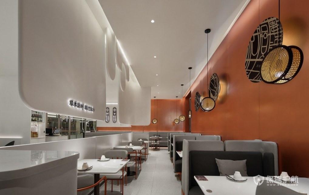 現代簡約風格餐廳桌椅擺放效果圖