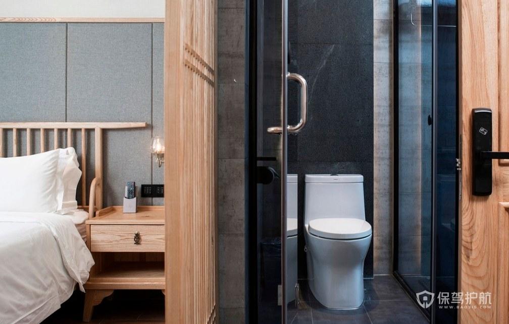 日式風格民宿酒店衛生間裝修效果圖