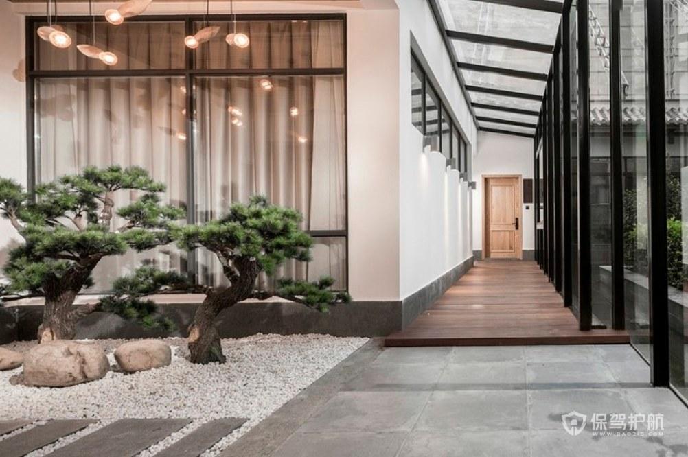 和式風格民宿酒店走廊裝修效果圖