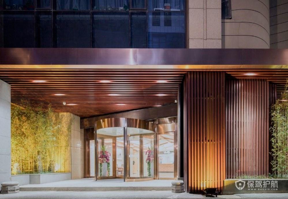 和式風格民宿酒店門面裝修效果圖
