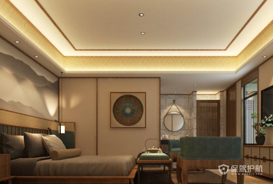和式風格民宿酒店房間裝修效果圖