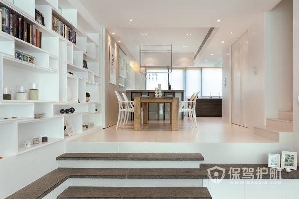 客廳錯層戶型要怎么裝修?客廳錯層一臺階效果圖